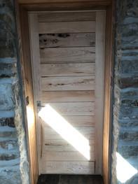 Olive ash internal door.
