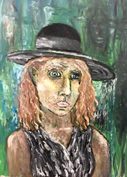 """Self Portrait in Isolation—Oil on Canvas. 18"""" x 24""""."""