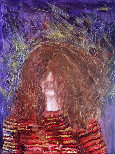 Frizzle Frazzle—Oil on Canvas.