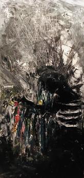 "Mo(u)rning—Oil on Canvas. 24"" x 48""."