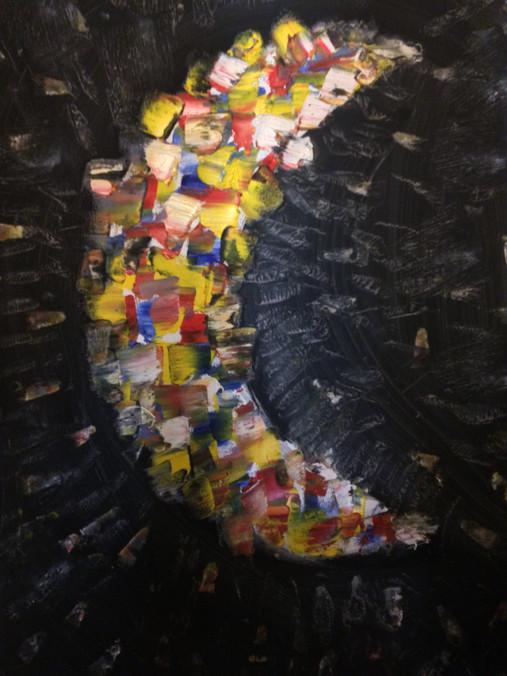 "Soulmate II—Oil on Canvas. 16"" x 20""."