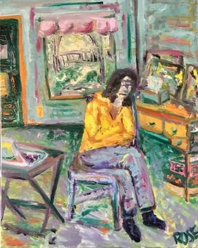 Portrait at a Distance—Oil on Canvas.