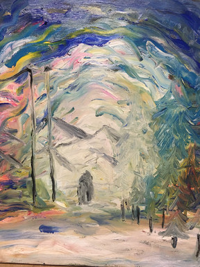 "Love—Oil on Canvas. 16"" x 20""."