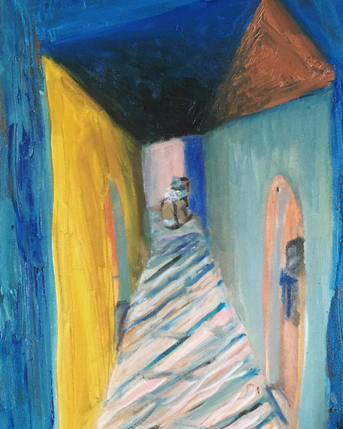 Memory Hall—Oil on Canvas.