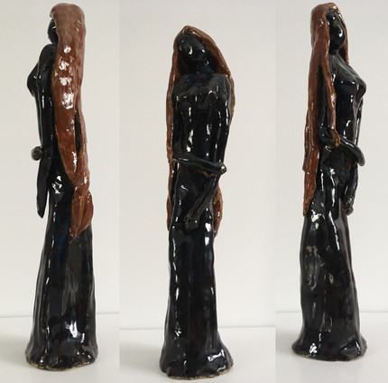 """Tranquility—Clay. 11"""" x 2"""" x 3""""."""