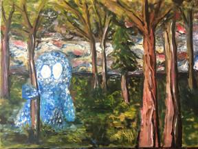 Imaginary Friend—Oil on Canvas.