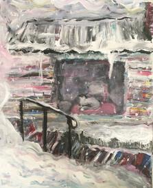 """Snow Day—Acrylic on Canvas. 16""""x 20"""""""