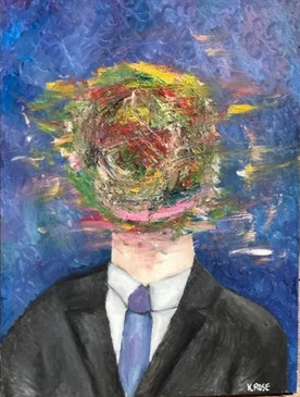 "Disturbance—Oil on Canvas. 30"" x 40""."