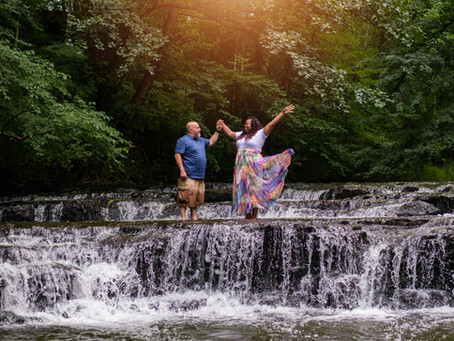 Corbett's Glen & Charlotte Beach Engagement Session -Rochester, NY Photographer: Ivy and Carlos