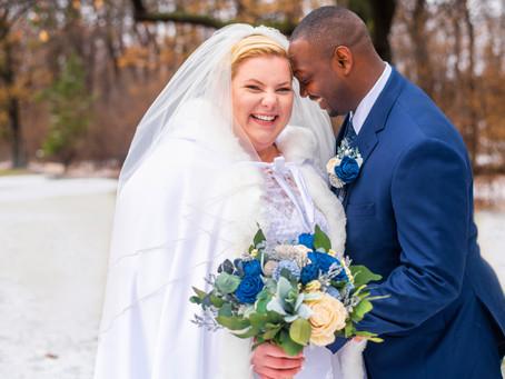 Winter Wonderland Wedding - Rochester, NY Photographer: Bethany & Nate