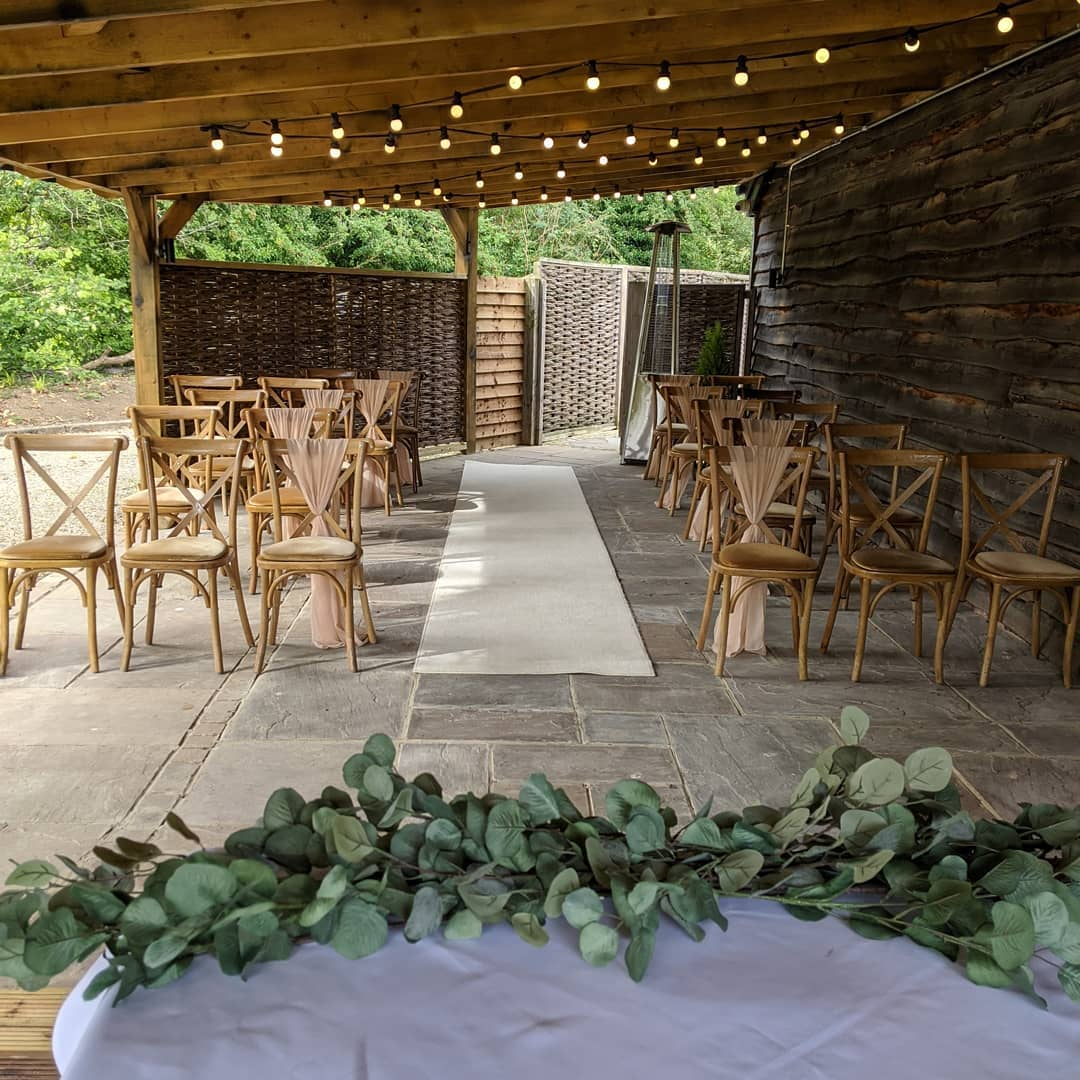 Outdoor under cover ceremony area