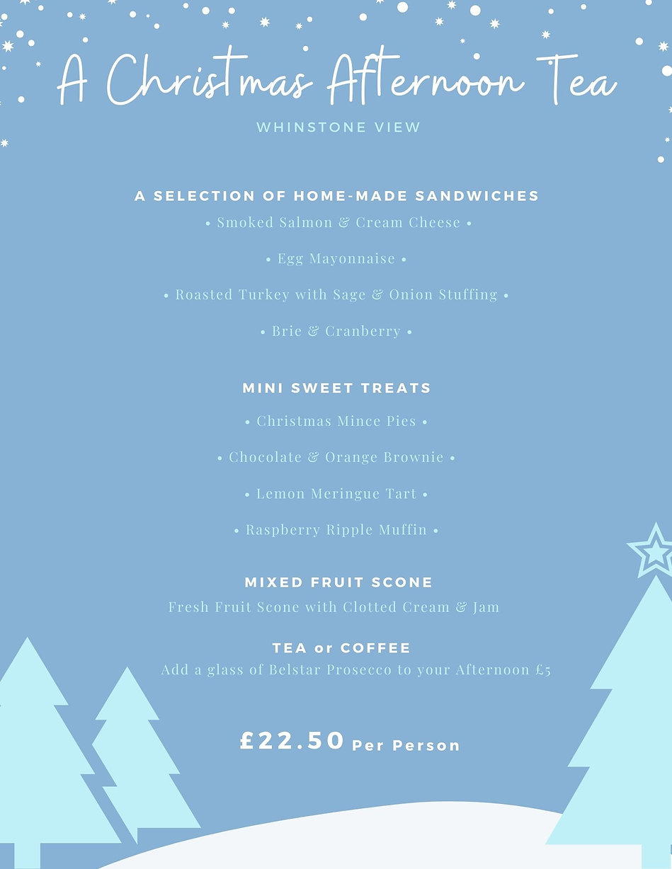 Blue Snow and Pine Trees Illustration Christmas Food and Drink Menu.jpg