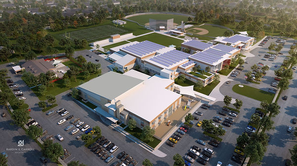 An aerial view of our future campus