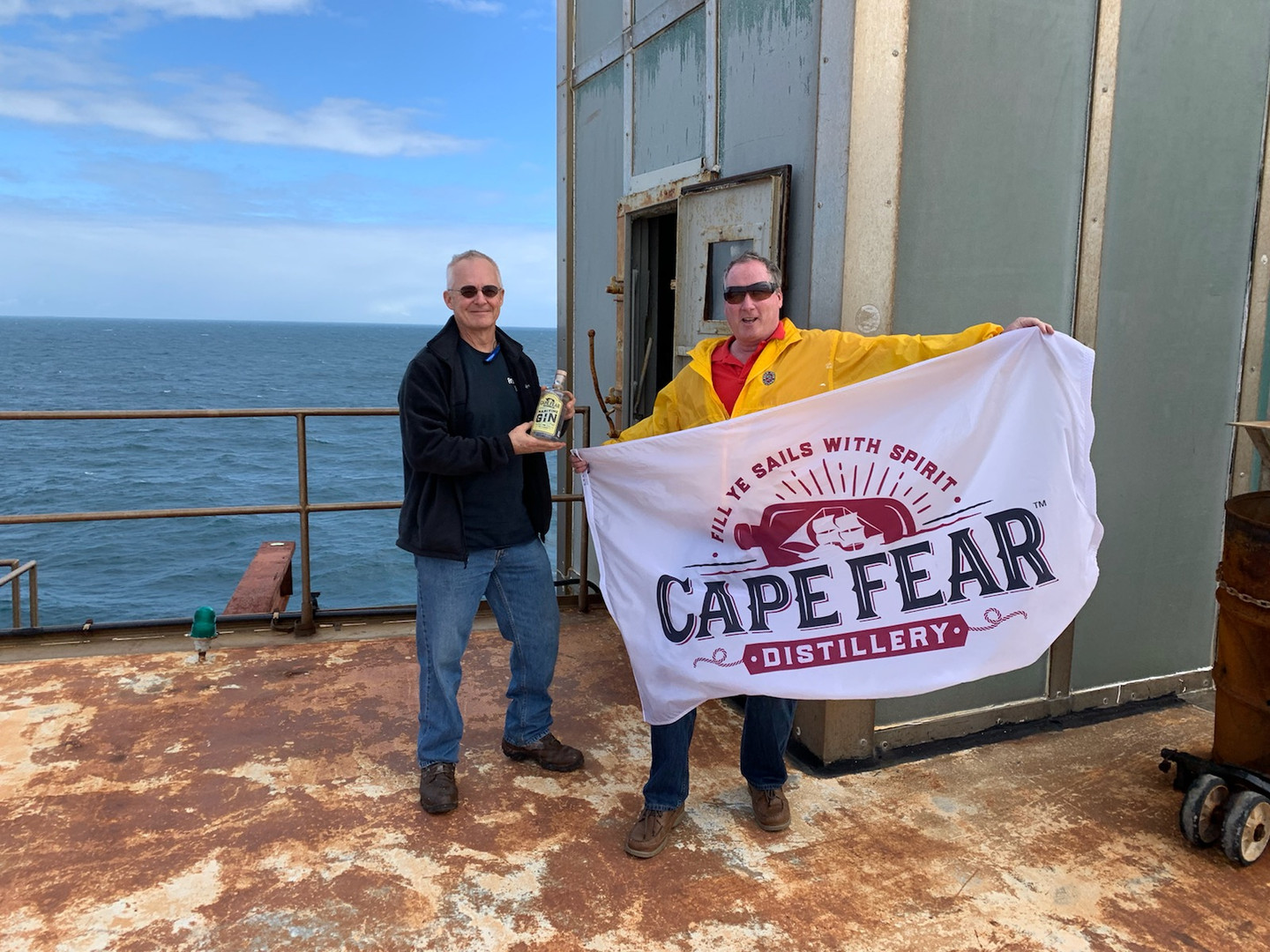 Thanks Richard!  Only Cape Fear Maritime Gin on Frying Pan Tower!