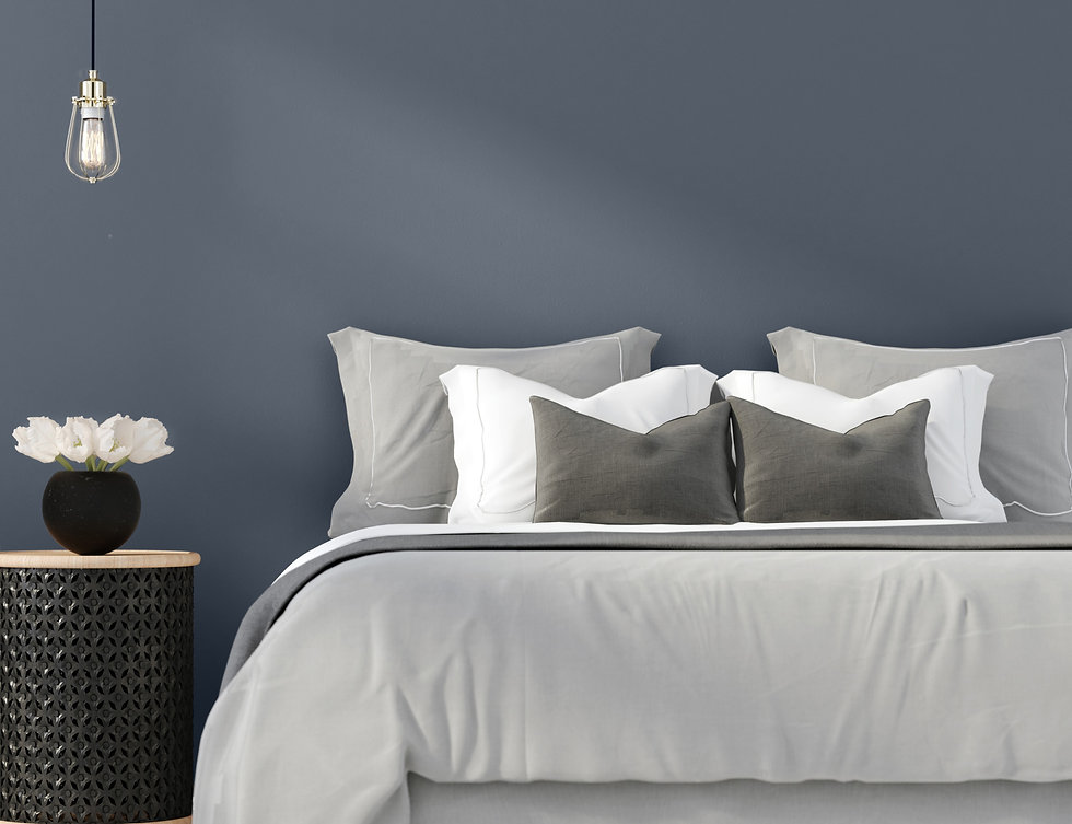 Home Staging of Bedroom Modern Neutral Colors