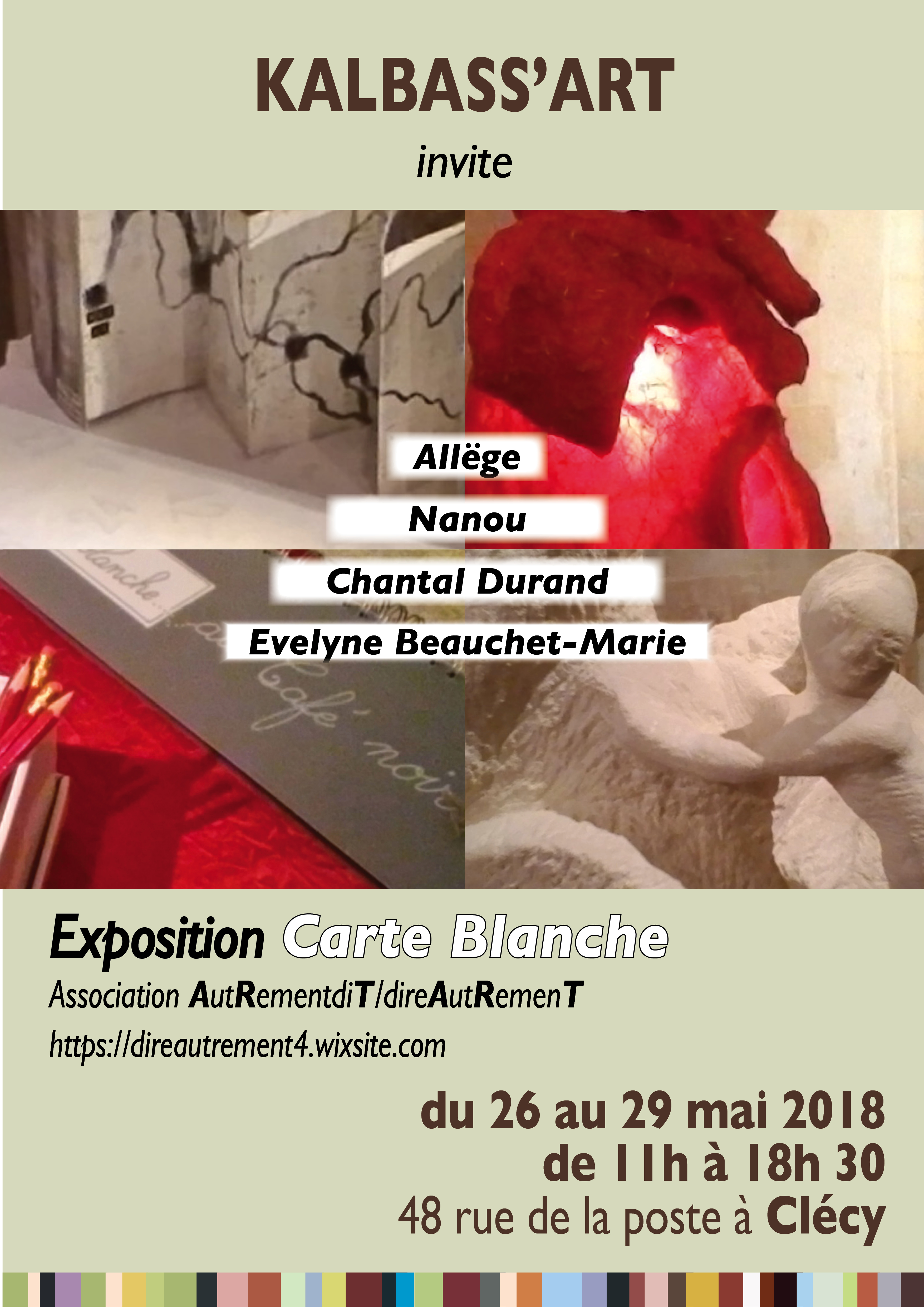 Affiches carte blanche