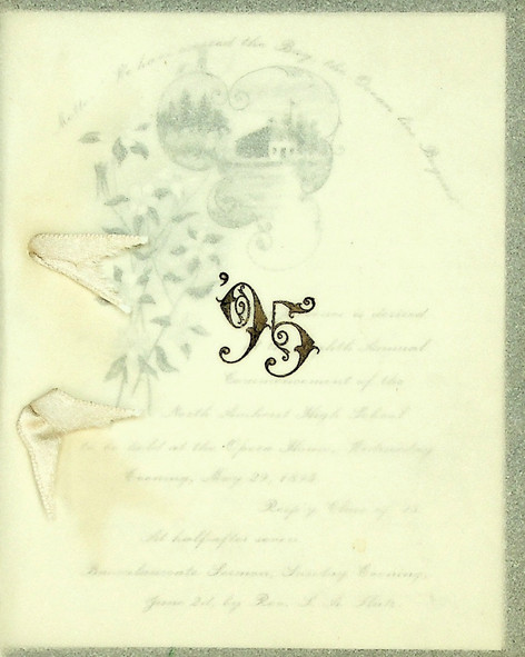 North Amherst High School Commencement: 1895