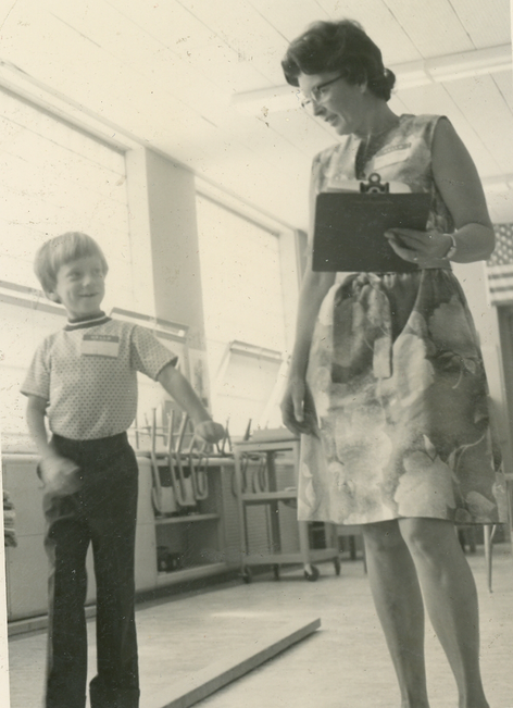 Mrs. Cotton & student