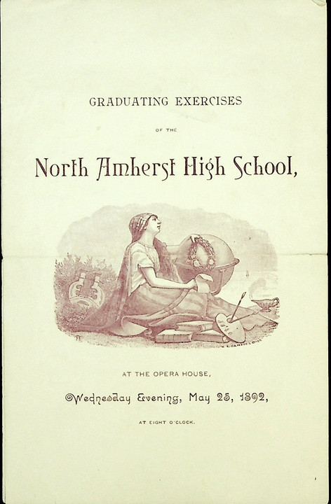 North Amherst High School Commencement: 1892