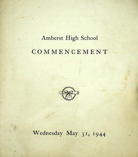 AHS Commencement: 1944
