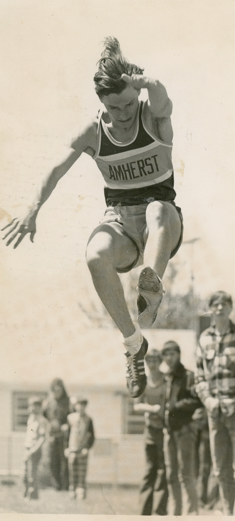 Dale Swift in the long jump