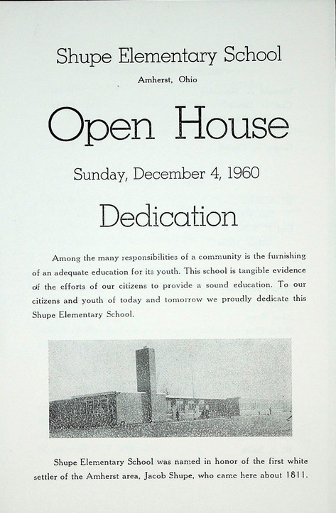 Shupe Elementary School Dedication - 1960