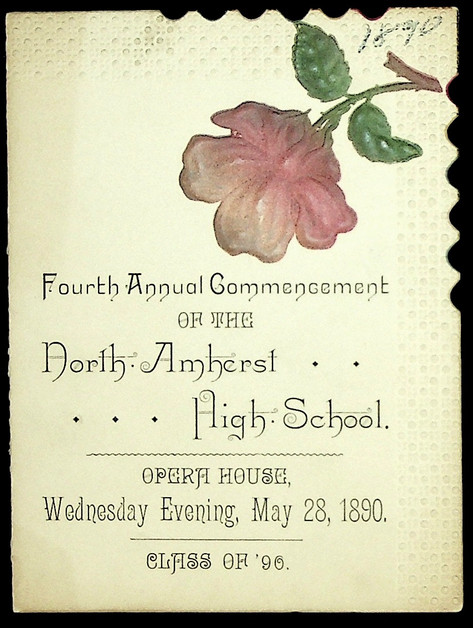 North Amherst High School Commencement: 1890