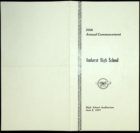 Amherst High School Commencement: 1937