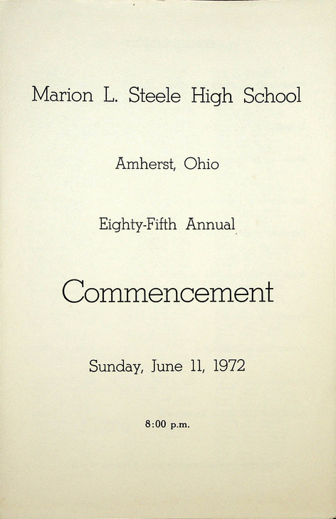 MLS Commencement: 1972