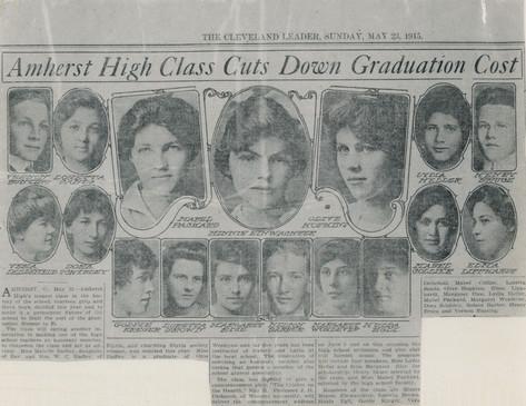 1915 Grads - Newspaper