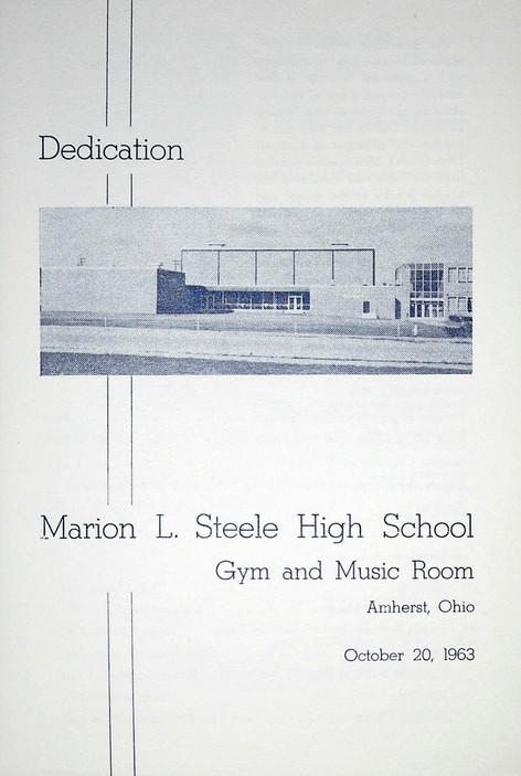 Marion L. Steele HS Addition Dedication Program - 1963