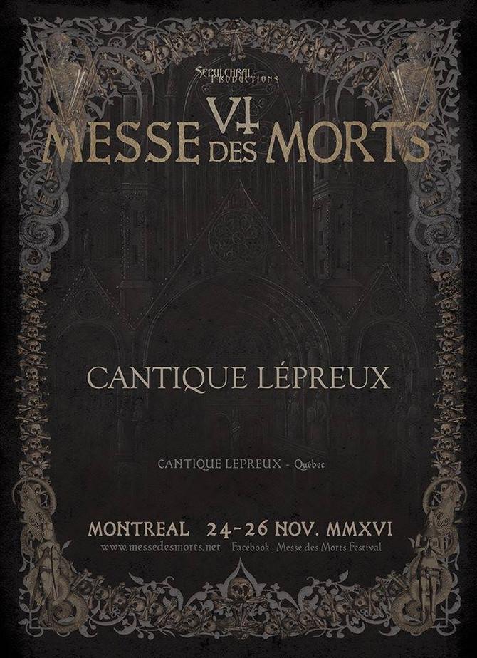 MESSE DES MORT VI – CANTIQUE LÉPREUX
