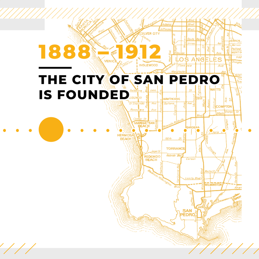 The City of San Pedro is Founded