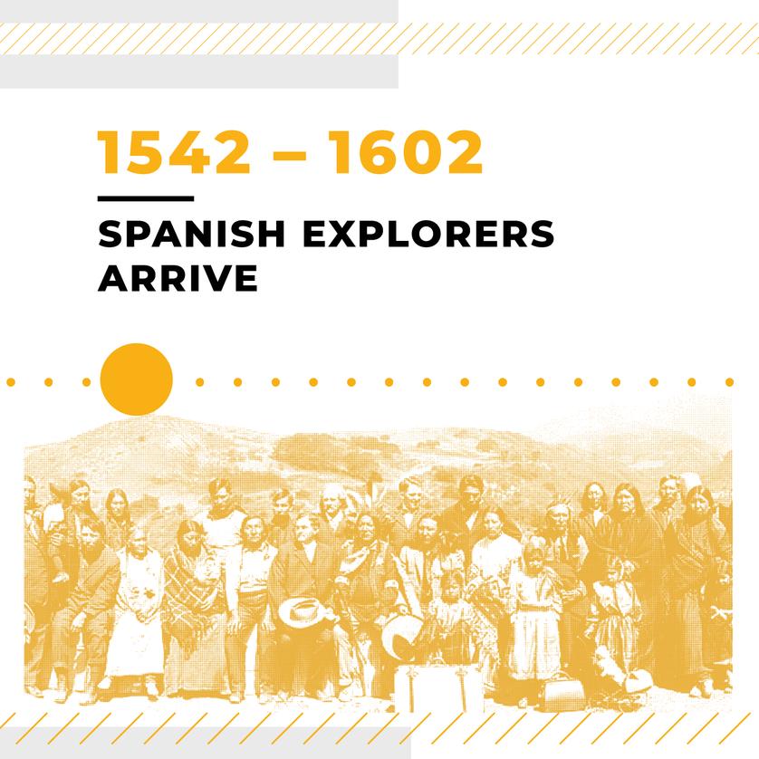 Spanish Explorers Arrive