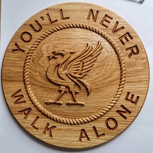 Oak Liver bird plaque - Dome