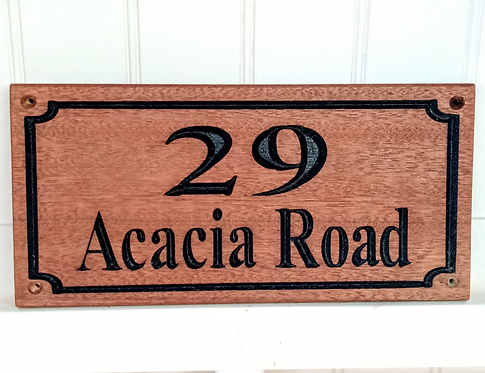 House name and number sign