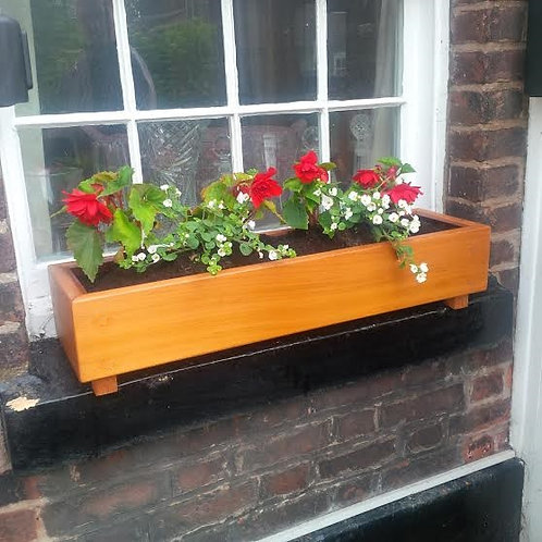Straight Grain Western Red Cedar Trough Planter