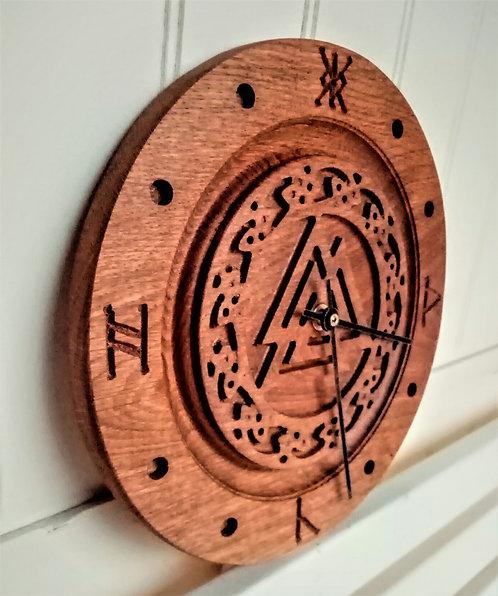 Oak Viking symbol clock