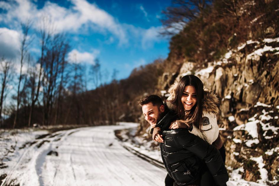 servizio fotografico di coppia divertente