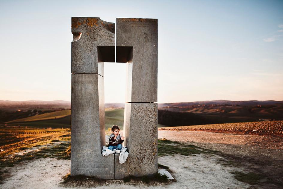 servizio fotografico per bambini alle crete senesi
