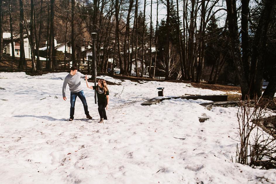 servizo fotografico pre matrioniale nella neve