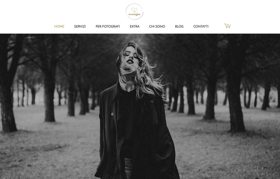 sito web fotografo