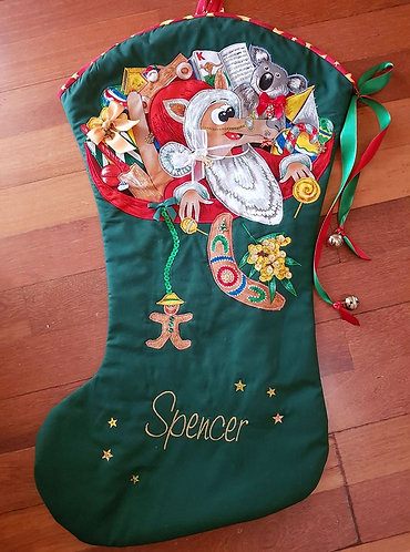 Aussie Christmas - Christmas Stocking - Large
