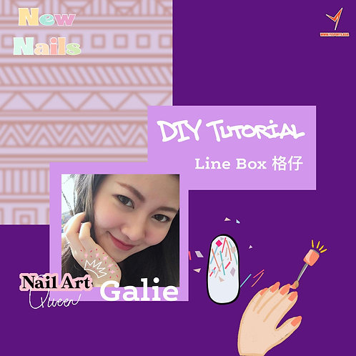 DIY Nail Art with Galie - Line Box Pattern