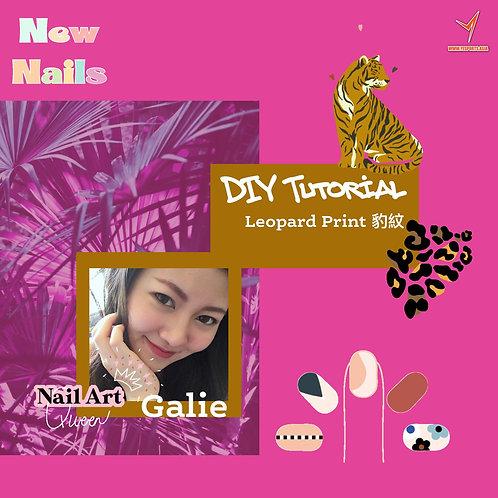 DIY Nail Art with Galie - Leopard Pattern