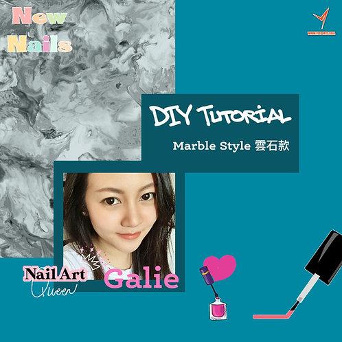 DIY Nail Art with Galie - Marble Pattern