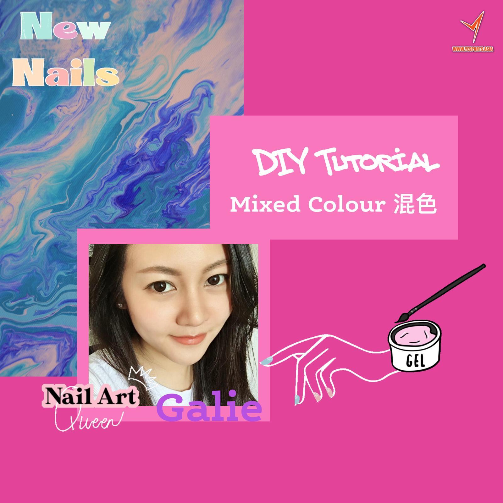 Nail Art - DIY mixed colour nails