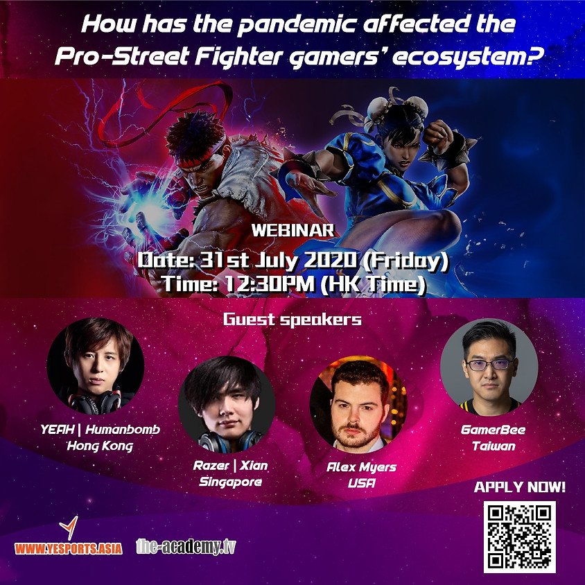 Yesports Webinar - How Has the Pandemic Affected the Pro-Street Fighters Gamers' Ecosystem?