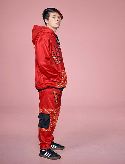 RED LACUSH JOGGING PANTS