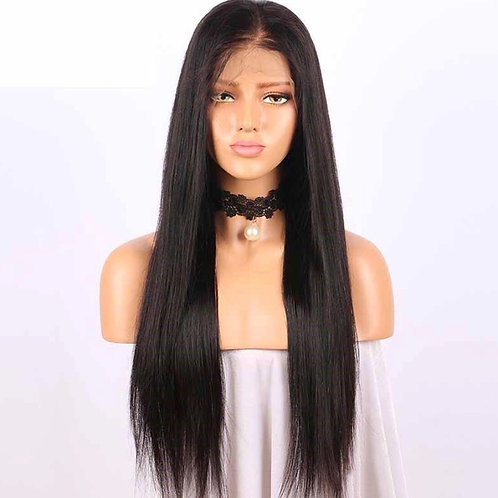 Brazilian Straight Hair 360 Lace Frontal Closure 10-20inch Natural Hairline Free